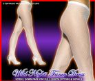 FANCY DRESS TIGHTS # ADULT LADY FISHNET TIGHTS WHITE